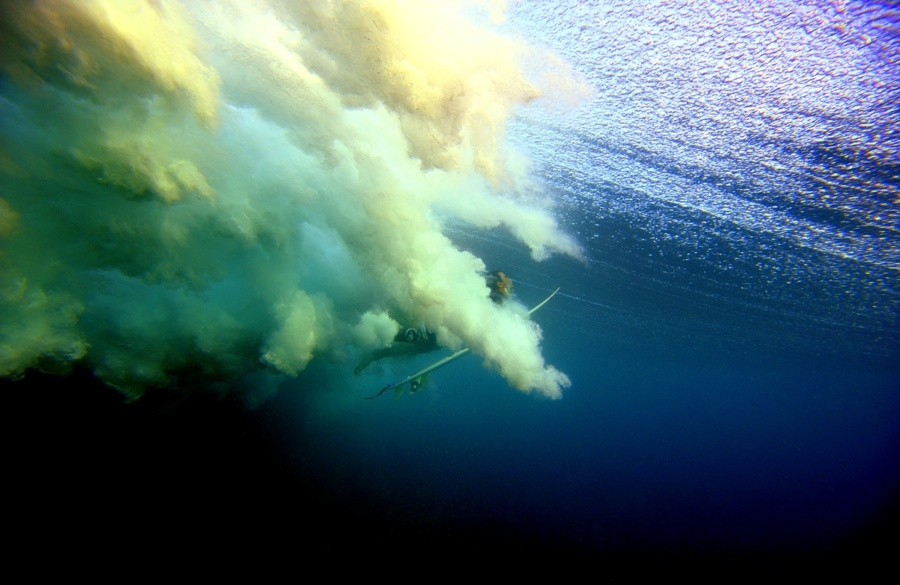 Photo aquatique sous marine surf canard