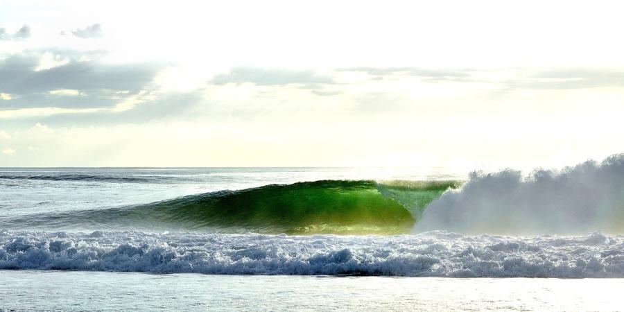 Magnifique photo de vague Landaise en fin de journée